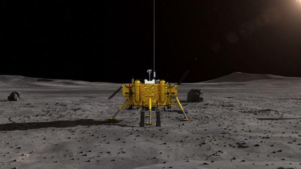 Chang'e 4 aterrizó en el cráter Von Kárman. (Foto: CNSA)