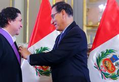 Gastón Acurio recibió condecoración de presidente Martín Vizcarra