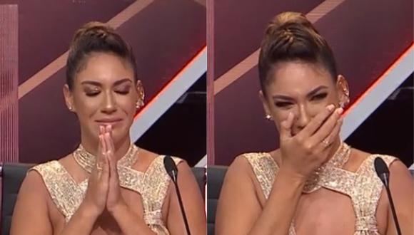 """Tilsa Lozano llora en """"El artista del año"""". (Foto: Captura América TV)."""