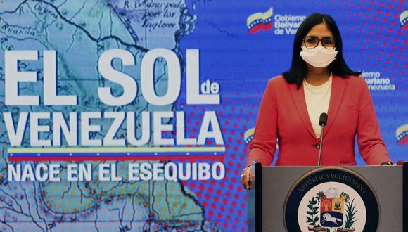 La vicepresidenta de Venezuela Delcy Rodríguez. (AFP).