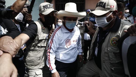El candidato de Perú Libre precisó que el coordinador de este plan es Roger Nájar Kokally. (Foto: El Comercio)