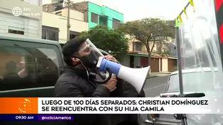 Christian Domínguez pudo abrazar a su hija tras 109 días separados por la pandemia