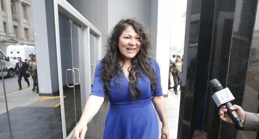 Yesenia Ponce se allana a pedido de impedimento de salida del país (Francisco Neyra/GEC)