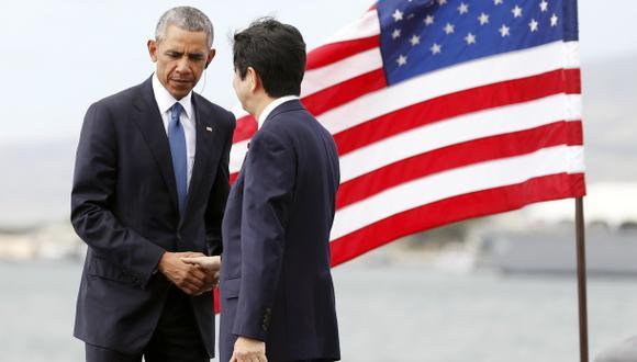 Obama y Abe homenajean a víctimas de Pearl Harbor