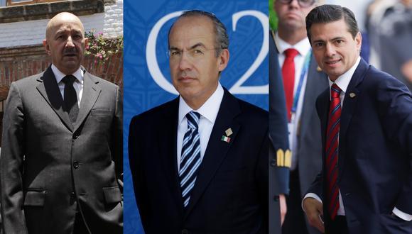 Bajo la lupa: De izquierda a derecha, los exmandatarios de México Carlos Salinas de Gortari, Felipe Calderón y Enrique Peña Nieto.