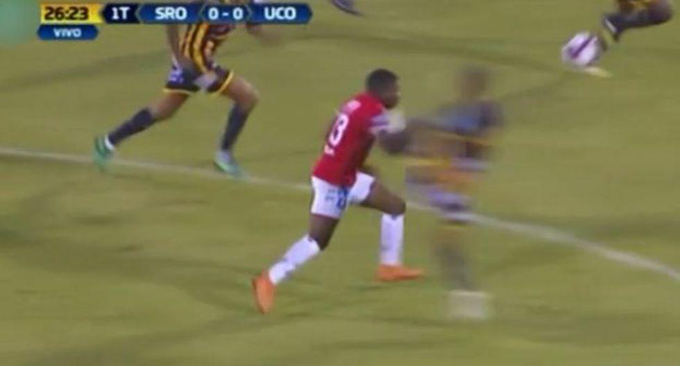 La terrible patada de Rossi a Preciado que provocó su expulsión. (Captura y video: Gol Perú)