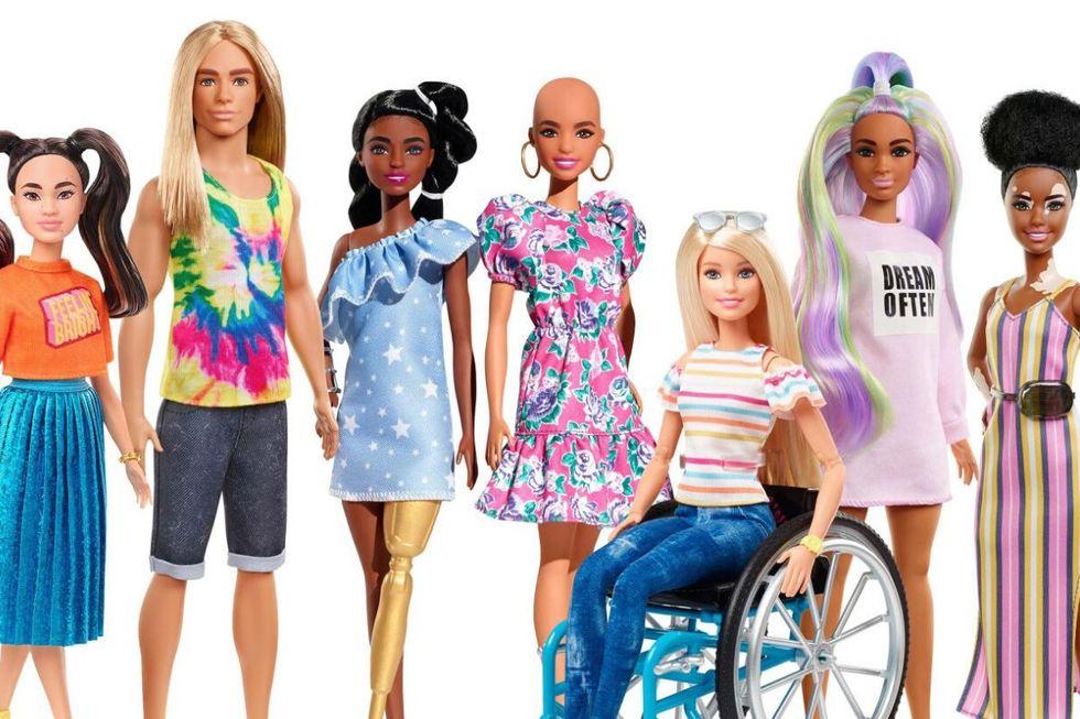 La nueva colección de Barbie incluye muñecas con vitiligo, ken con cabello largo y muchos más modelos (Foto: Mattel)