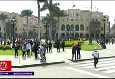 Plaza Mayor de Lima es reabierta tras permanecer cerrada varios meses