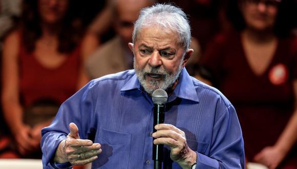 El expresidente de Brasil Luiz Inácio Lula da Silva habla frente a seguidores en un acto en defensa de la cultura realizado el 18 de diciembre en Río de Janeiro. (Foto: EFE)