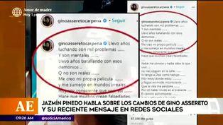 Jazmín Pinedo habla sobre extraño mensaje que dejó Gino Assereto en Instagram