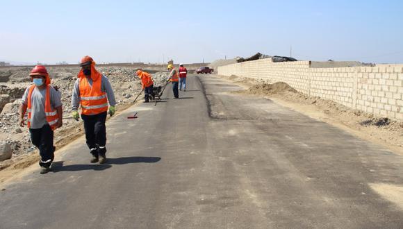 Obra vial que ejecuta el municipio distrital de Huanchaco,  incluida en el plan de reconstrucción con cambios, habría causado perjuicio de S/1,1 millones. (ARCC)