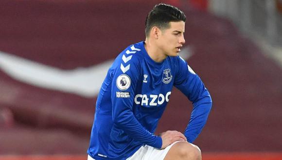 James Rodríguez confirmó la fecha para volver con Everton en la Premier League. (Foto: Reuters)