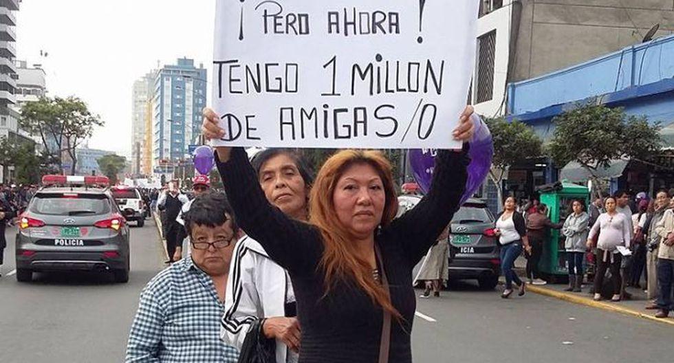 #NiUnaMenos: originales carteles se vieron en la marcha [FOTOS] - 1