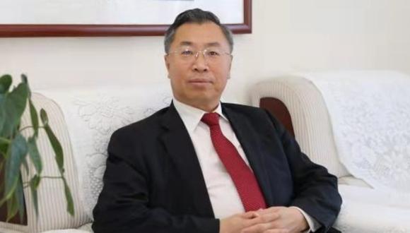 Imagen de Liu Jingzhen, presidente de Sinopharm. Perú ha adquirido 38 millones de vacunas del laboratorio chino. (Captura de pantalla/Sinopharm).