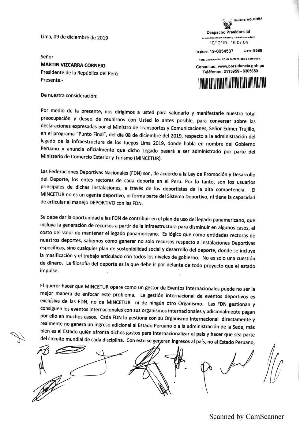 Piden que infraestructura de los Panamericanos Lima 2019 no pase a Mincetur