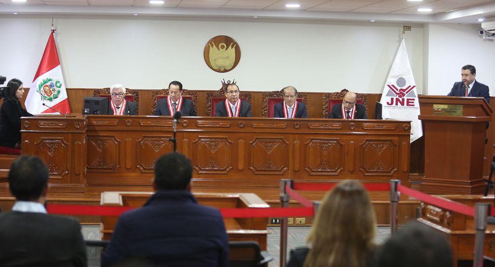 El pleno del JNE está presidido por el magistrado Víctor Ticona.