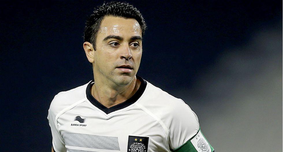 Xavi disputando un partido con Al Sadd. (Foto: EFE)