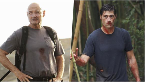 """De izquierda a derecha John Locke (Terry O'Quinn) y Jack Sheppard (Matthew Fox), protagonistas del clímax de """"Lost""""; que fuera la serie más popular del mundo."""