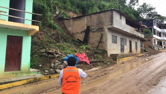 Piura: suspenden clases en seis colegios tras huaico en Ayabaca