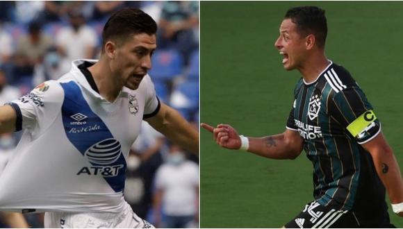 Santiago Ormeño y Javier Hernández pedidos en la selección mexicana. (Foto: EFE / AFP)