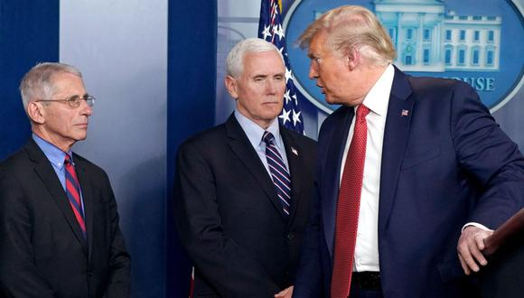 Donald Trump ha vuelto a atacar al principal responsable científico en la lucha contra el coronavirus, Anthony Fauci. (Foto: EFE)