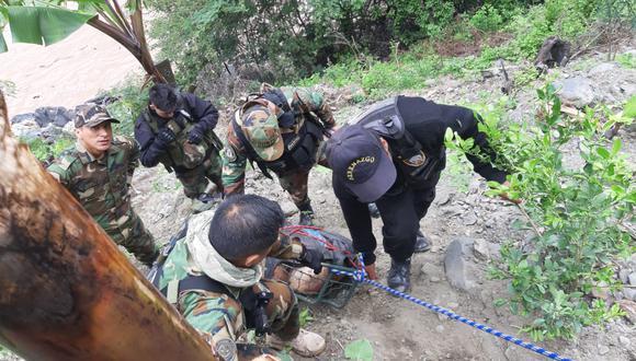 Policía rescató el cadáver de un hombre del río Mantaro. (GEC)