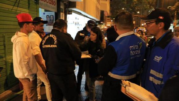 Migraciones señaló que los extranjeros serán puestos a disposición de la Policía de Extranjería. (Facebook)