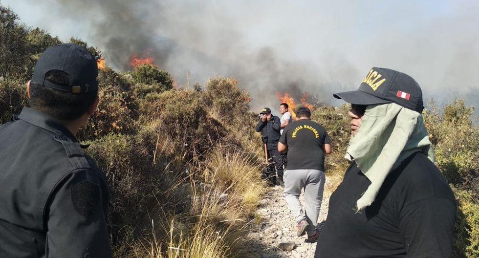 Se logró controlar el fuego y evitar que se propague en el área protegida. (Foto: GEC/Referencial)
