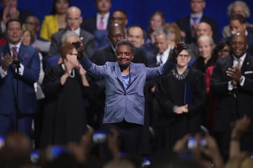 Lori Lightfoot: Juramentó en Chicago la primera alcaldesa negra y lesbiana. Foto: AFP