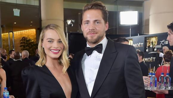 Margot Robbie y Tom Ackerley (Foto: The Beverly Hilton Hotel)