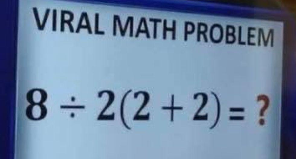 Así como ves, este problema matemático no tuvo una resolución buena por parte de miles de personas en Facebook y Twitter, hasta que respondió un profesor de matemáticas. (Foto: Fox)