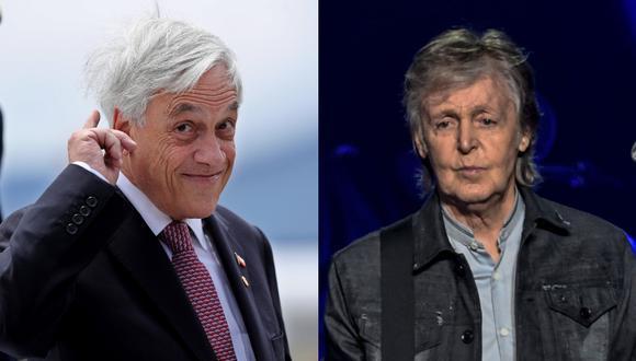 Los silbidos al presidente Piñera sorprendieron al cantante británico Paul McCartney. (Foto: EFE / AFP)