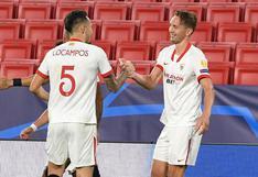 Sevilla derrotó 1-0 a Rennes y logró su primer triunfo en la Champions League