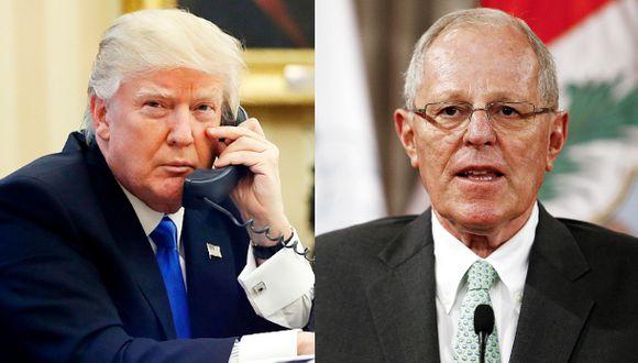 """Trump llamó a PPK para """"hacer frente"""" a la crisis en Venezuela"""