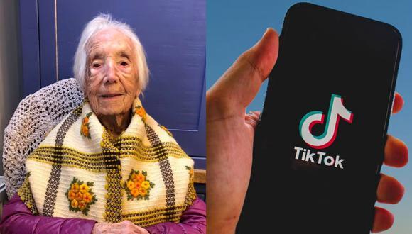 Una anciana de 110 añis causa furor en TikTok con su adorable forma de cantar. | Crédito: Hannah Freeman / Facebook / Pixabay / Referencial.