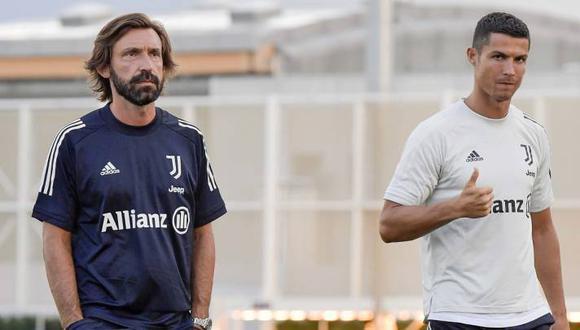 Cristiano Ronaldo y Andrea Pirlo mantienen una gran relación dentro del plantel de la Juventus. (Foto: Juventus)