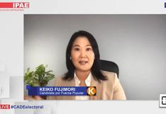 Keiko Fujimori asegura que construirá 3.000 colegios en un eventual gobierno, como lo hizo su padre Alberto Fujimori