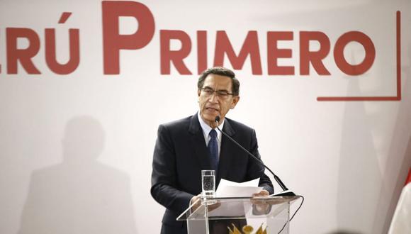 El presidente Martín Vizcarra dio un discurso durante la presentación de la política general del gobierno anunciada ayer en Palacio de Gobierno. (Foto: Renzo Salazar/ GEC)
