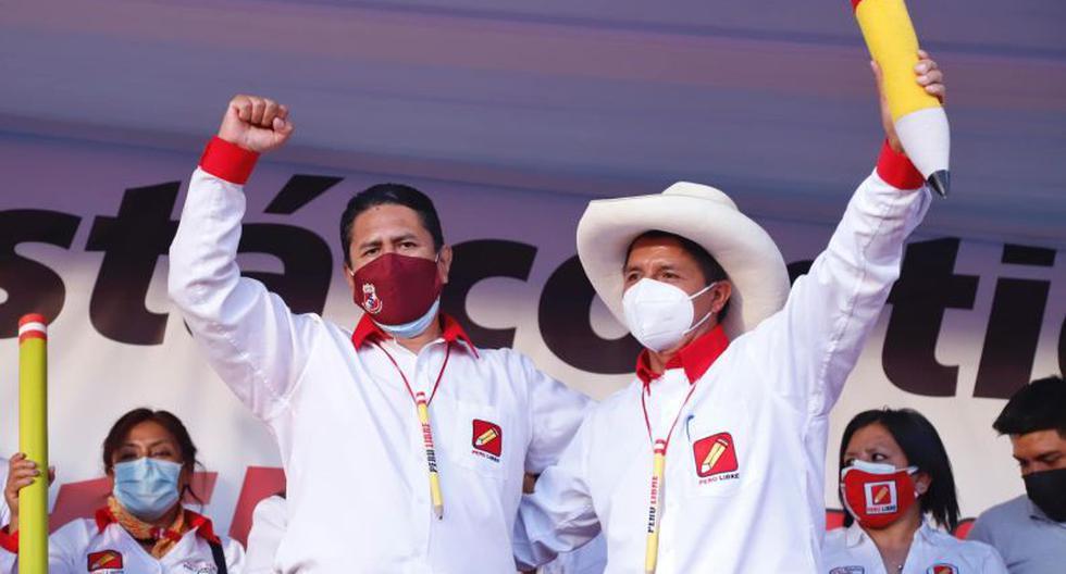 Vladimir Cerrón y Pedro Castillo son anunciados como expositores en el congreso que realizará Perú Libre el 24 de julio, a días del cambio de mando. (Foto: Perú Libre)