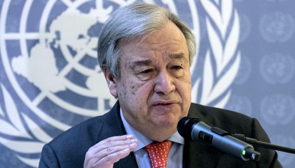 El portugués António Guterres, secretario de la ONU, expresó su preocupación los los incendios en la Amazonía. (Foto: AFP).