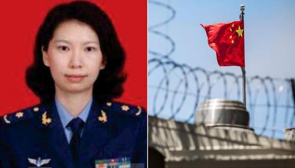 Tang Juan acusada de haber ocultado sus vínculos con el ejército de su país para obtener una visa estadounidense. (AFP/AP).
