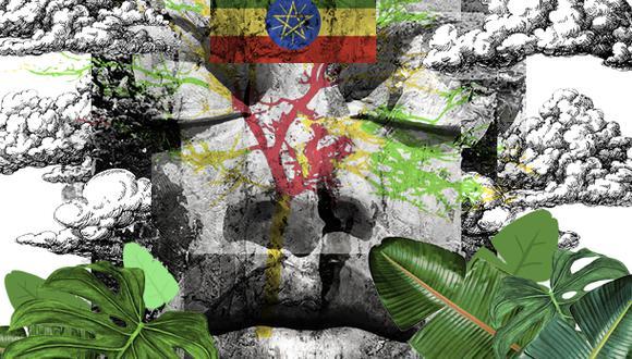 """""""Hace veinte años, Etiopía estaba entre los países más pobres del mundo. Pero en los años 2010, se convirtió en la economía de más rápido crecimiento del mundo"""". (Ilustración: Giovanni Tazza)"""