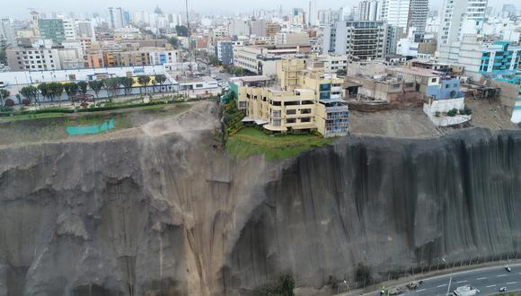 Costa Verde: la magnitud del deslizamiento vista desde un dron (Carlos Hidalgo / El Comercio)