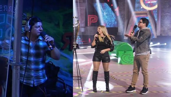 Johanna San Miguel y Gian Piero Díaz incómodos con la forma de narrar de 'El Zar' en México (Composición: Captura América TV / Instagram)