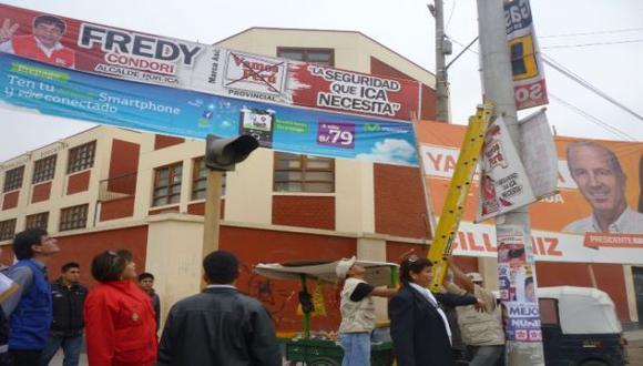 Ica: Retiran 364 carteles de propaganda no autorizada