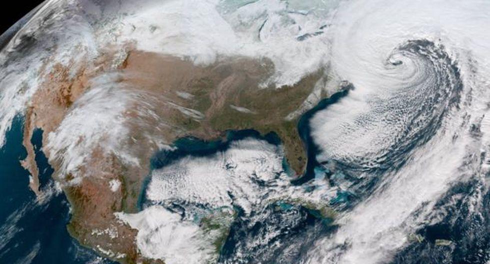 Cuatro estados se han declarado en emergencia y otros han emitido alertas de tormentas de nieve, ante la llegada de la bomba meteorológica. Foto: Servicio Nacional Meteorológico de Estados Unidos.
