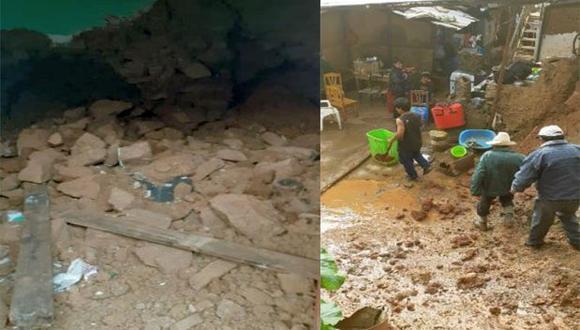 La erosión dañó 20 metros lineales de la plataforma de la vía Aija - Canchinchan, mientras que los derrumbes de cerros en la vía vecinal Aija - Succha bloqueó el tránsito de vehículos (Foto: COER)