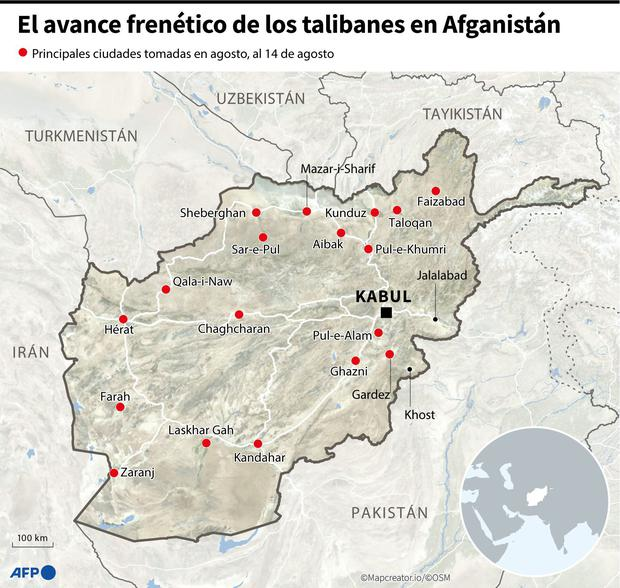 The Taliban's frantic advance in Afghanistan.  (AFP).
