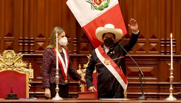 Pedro Castillo dio un mensaje a la Nación que duró una hora desde el Congreso. (Foto: Presidencia)