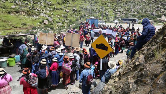 Manifestantes atacaron un convoy de camiones de minera Las Bambas. (Foto referencial: GEC)